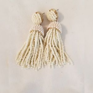 Baublebar Piñata Tassel Earrings- Cream